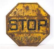 STOP State Road sign