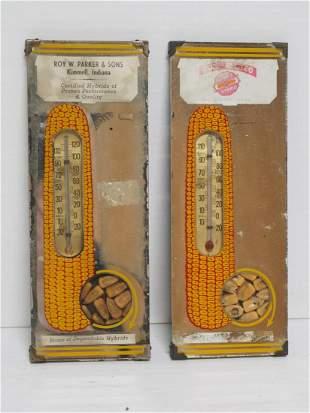 (2) Hybrid corn advertising mirrors