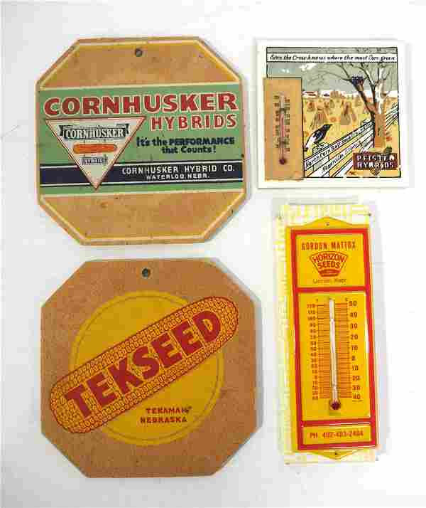 (4) Seed corn advertising pieces