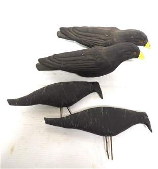 (4) Black crows