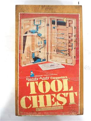 Handy Andy child's tool chest set