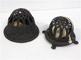 (2) Cast iron string dispensers