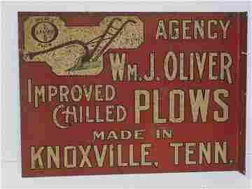 Wm. J. Oliver Agency Plow sign