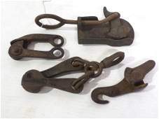 (4) Fence wire stretcher tools