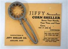 NOS Jiffy hand corn sheller