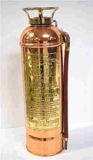 Alert brass fire extinguisher