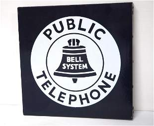 Public Bell System Telephone sign