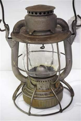 Dietz nickel-plated railroad lantern