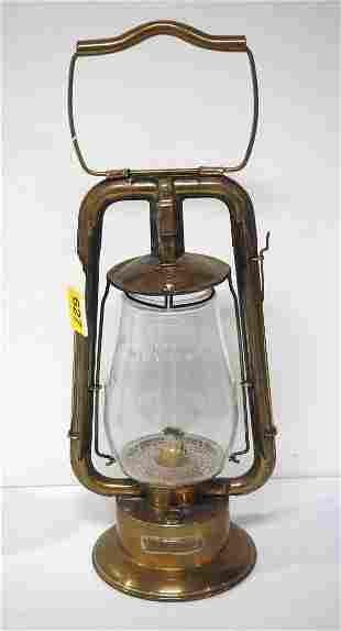 Brass Dietz fire dept. lantern