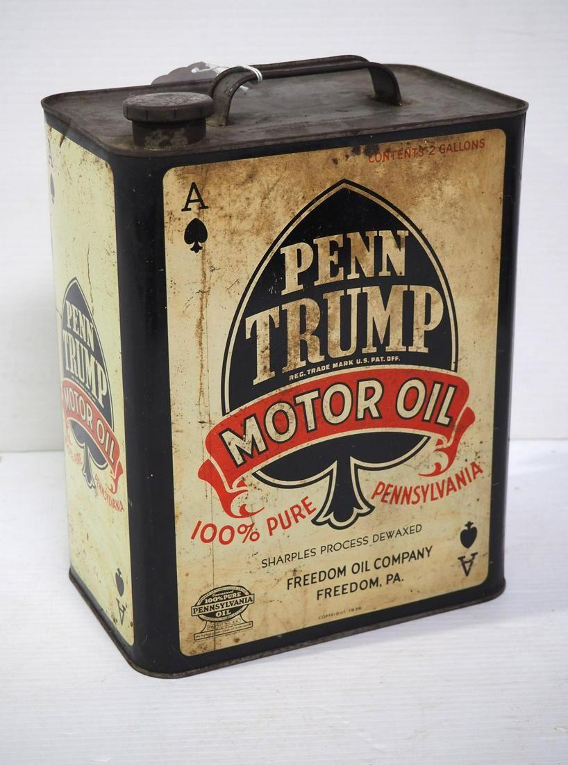 Penn Trump oil tin