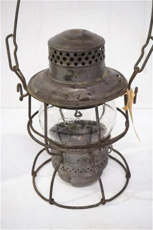 Nickel-plated railroad lantern