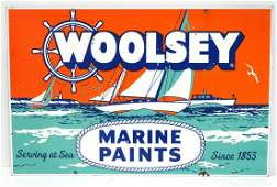 Woolsey Marine Paints sign
