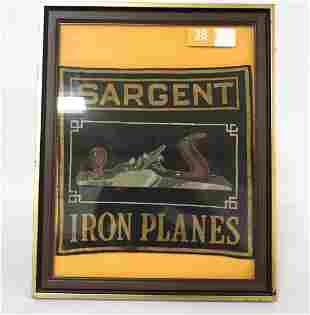 Sargent Iron Planes store counter advertising piece