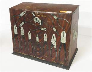 Utica Drop Forge & Tool Co. No.922 early tin cabinet