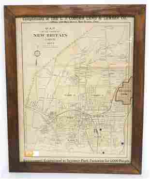 1902 New Britain, Connecticut Map (Stanley factory