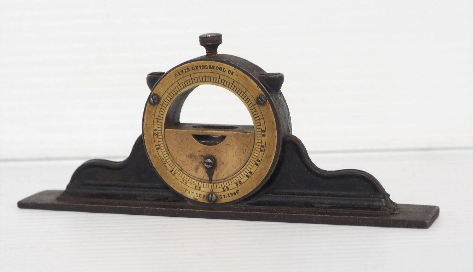 Davis Level & Tool Co. Mantel Clock Inclinometer -