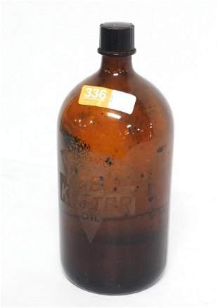 E.C. Simmons Keen Kutter glass oil jar with cap
