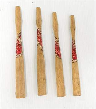 """(4) 8""""L Crescent hickory Handles for small hammers"""