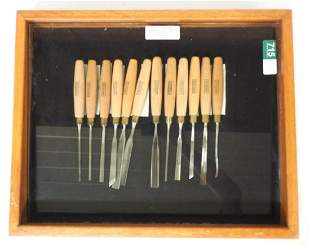 NOS 12-pc. Greenlee Carving Chisels