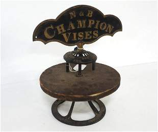 N&B Champion Vises display stand