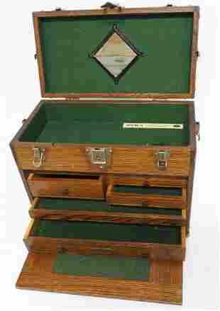Model 041 H. Gerstner & Sons wooden tool chest