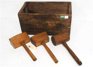 The Stanley Works Wrought Steel Hardware box with