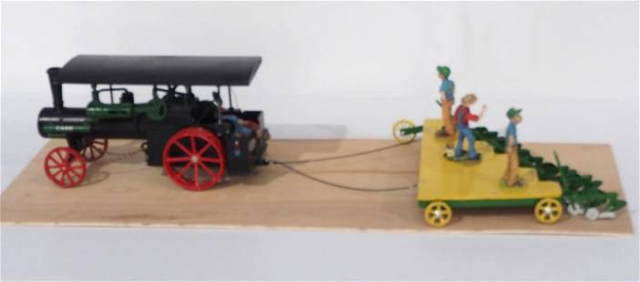 Ertl Case Steam Engine with Custom 12-Bottom Plow