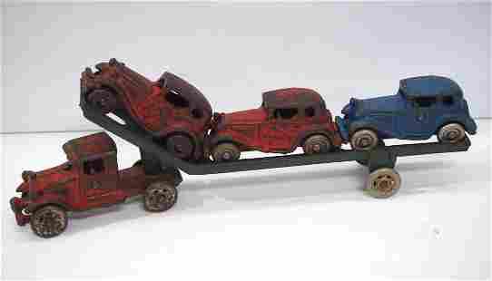 Arcade cast iron truck & trailer