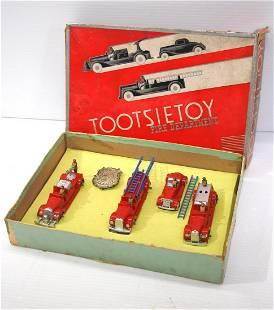 Tootsie Toy Fire Dept. No.411 toy set