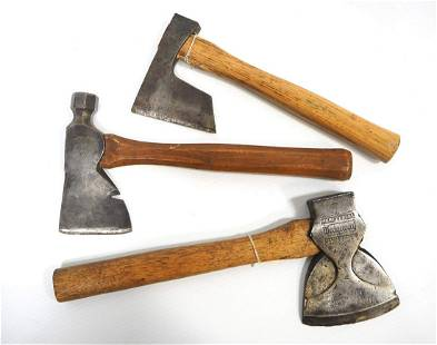 Axe and (2) Hatchets