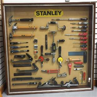 Display of modern Stanley tools