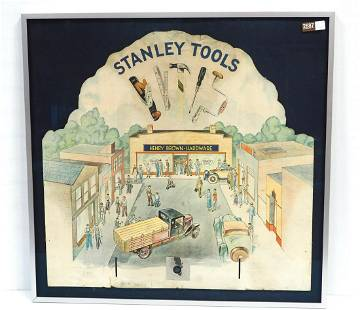 Cardboard stand-up display for Stanley Tools