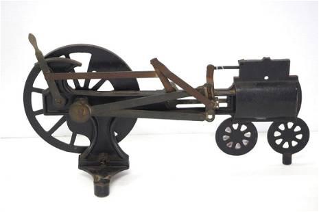 Cut-away steam engine model