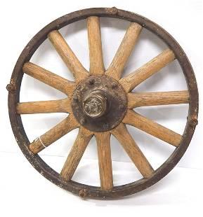 Early wooden spoke automobile wheel
