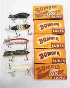 (5) Bomber Bait Co. fishing lures