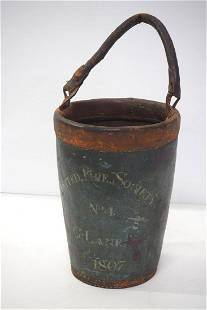 United Fire Society 1807 leather fire bucket