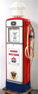 Gilbarco Calco Meter lighted gas pump