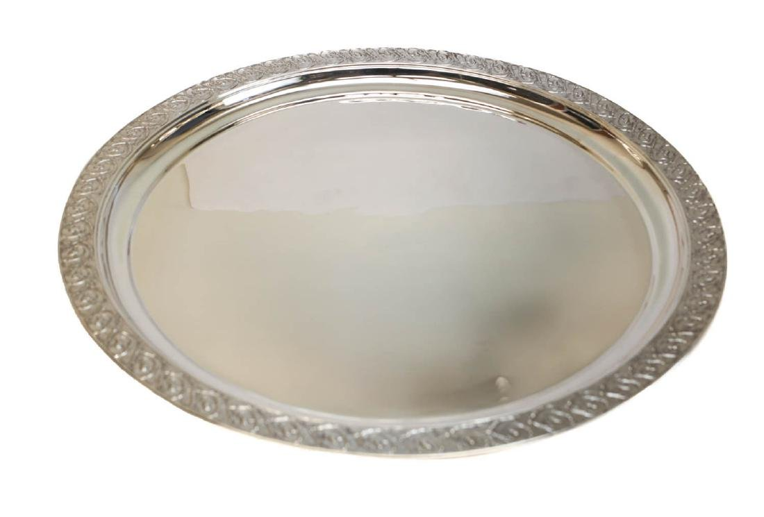 Tiffany Sterling Silver Hand Chased Centerpiece Tray