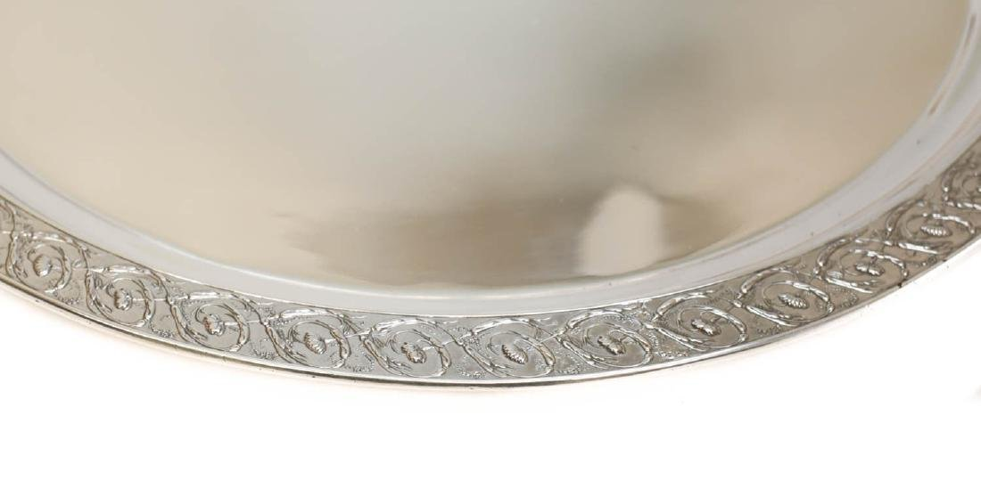 Tiffany Sterling Silver Hand Chased Centerpiece Tray - 2