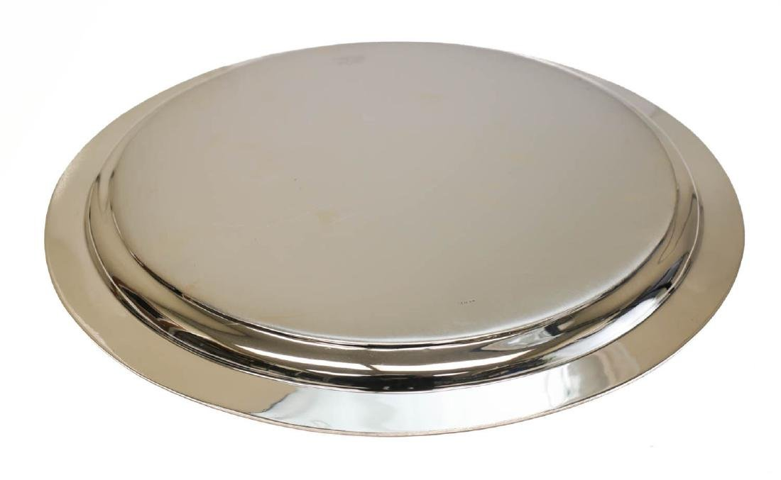 Tiffany Sterling Silver Hand Chased Centerpiece Tray - 3