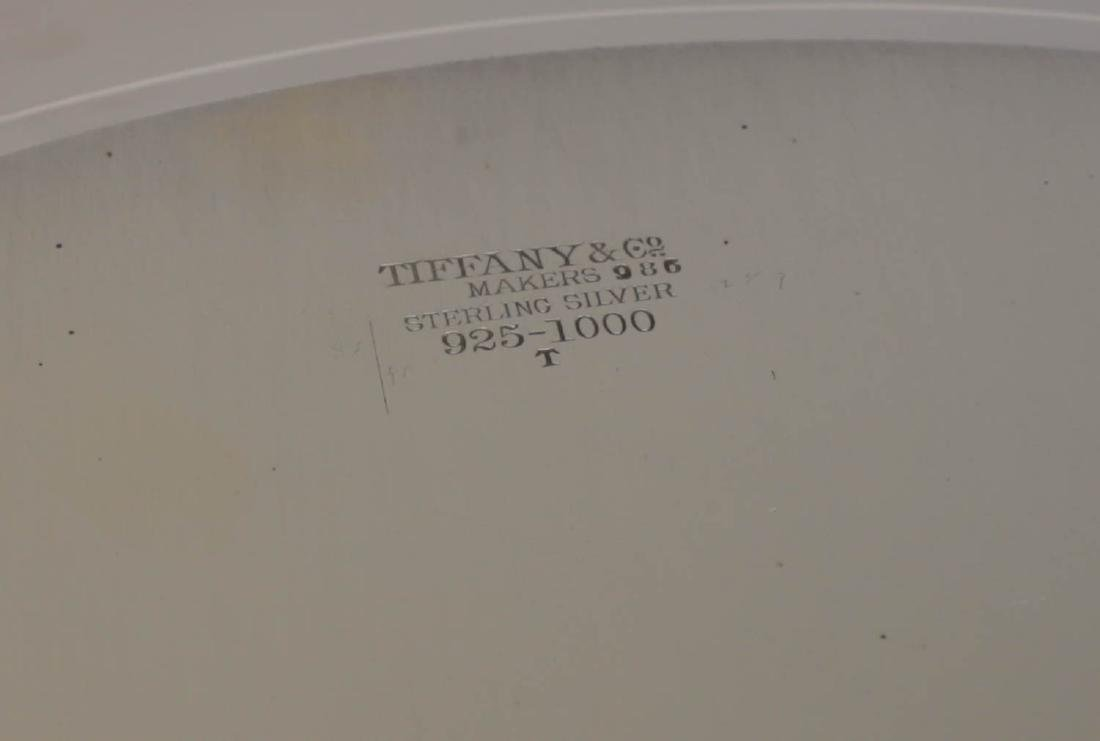Tiffany Sterling Silver Hand Chased Centerpiece Tray - 4