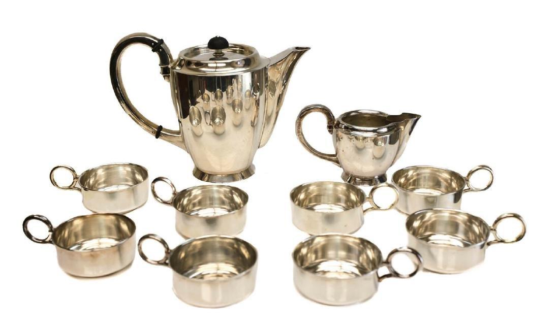 Jakob Grimminger 835 Silver Coffee Service Set for 8