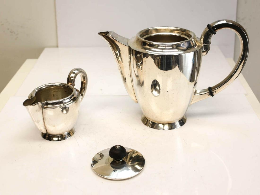 Jakob Grimminger 835 Silver Coffee Service Set for 8 - 3