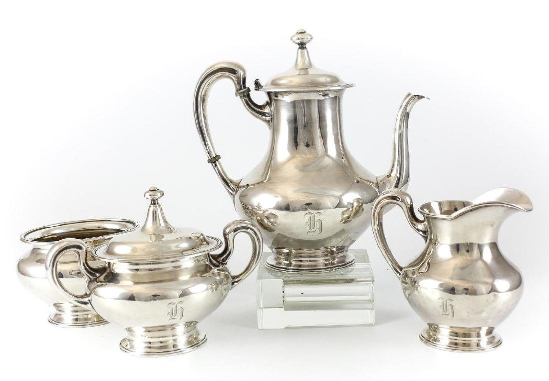 4pc Mauser Mfg Co. Sterling Silver Coffee Service Set