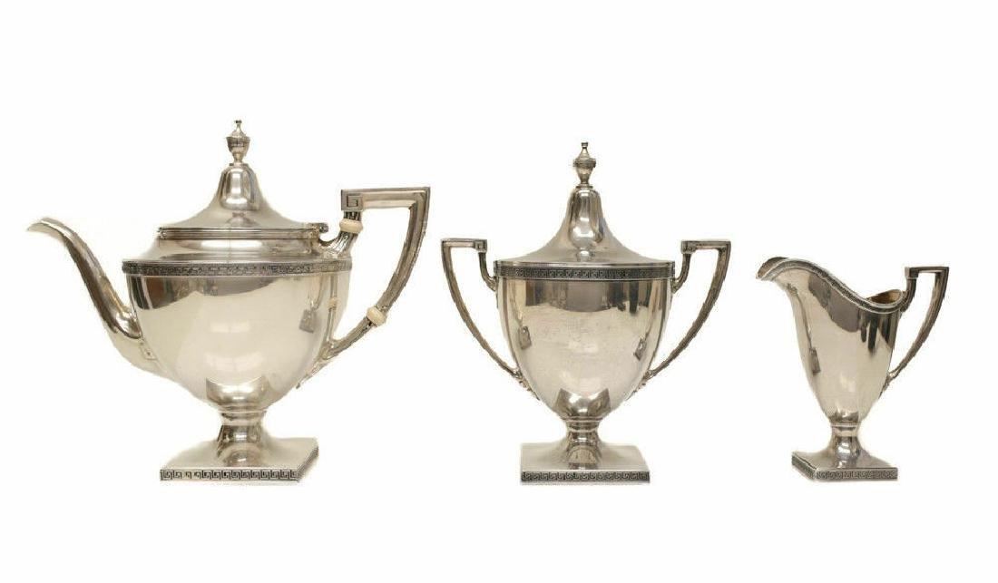 Gorham Mfg Co Sterling Silver Tea Service Set Etruscan