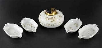 Rosenthal Magic Flute Monogramstanos Smoking Set