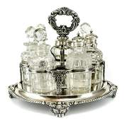 8 Continental Silverplate Condiment Caddy, 19th C