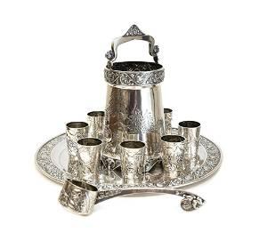 Russian Silver Vodka Set