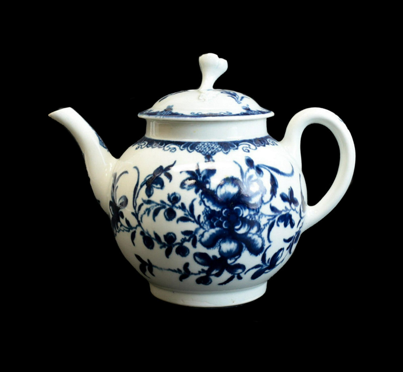 Royal Worcester Dr. Wall Porcelain Teapot