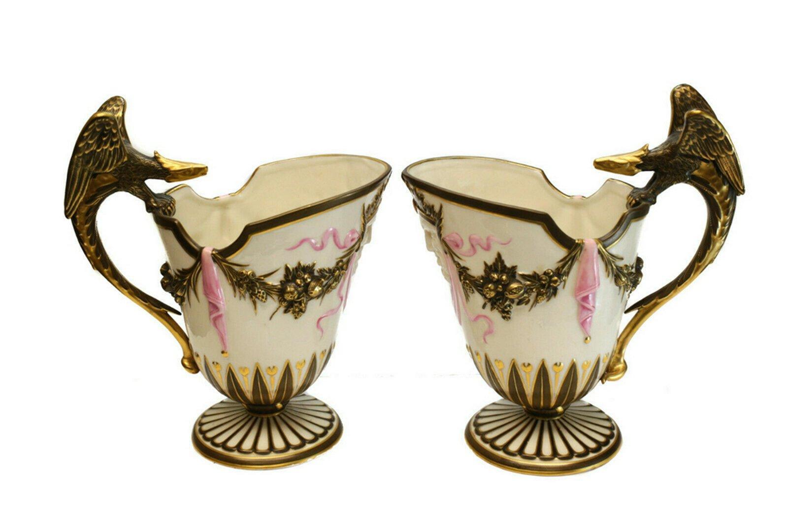Royal Worcester Porcelain Pitchers 1868, Dragon Handles